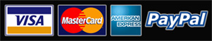 Pay with Paypal, Visa, Mastercard or American Express